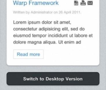 Mobilmall med Joomla! 1.6 och Warp6